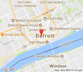 Google Map of Chrysler House 719 Griswold, Suite 270 Detroit, MI 48226
