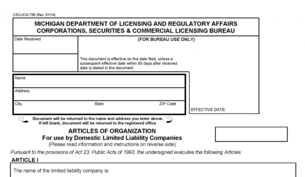 Excitement About How To Start An Llc In Michigan
